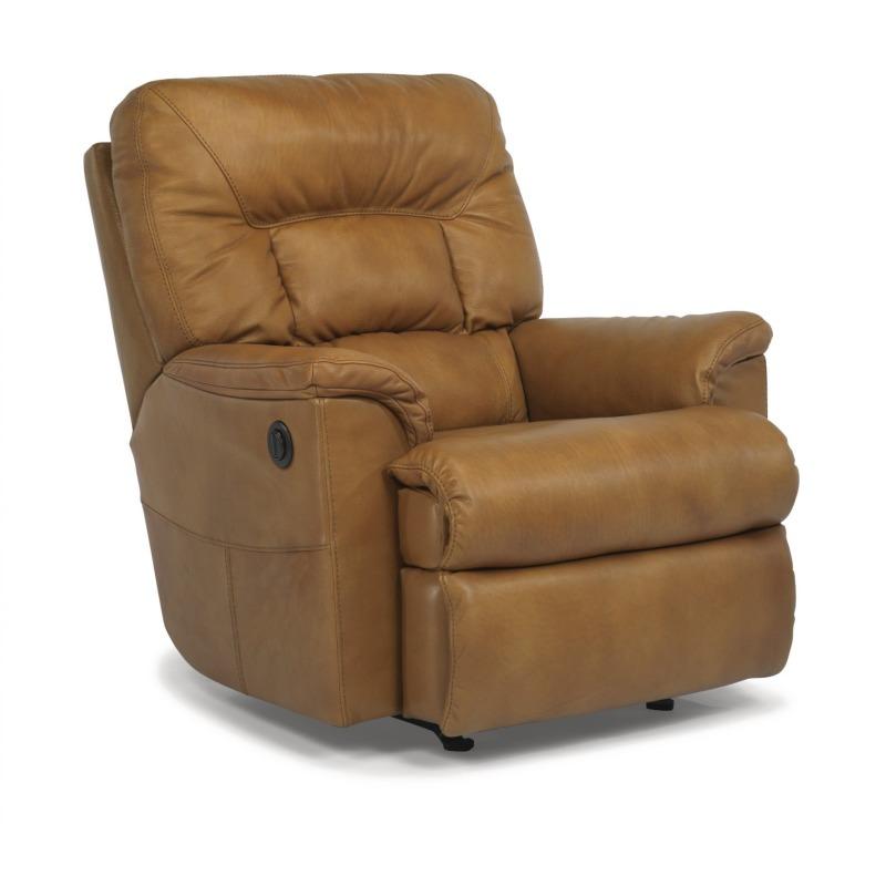 Awe Inspiring Great Escape Leather Power Recliner By Flexsteel Furniture Machost Co Dining Chair Design Ideas Machostcouk