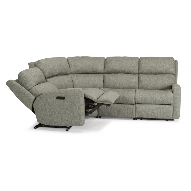 Cool Catalina Fabric Reclining Sectional W Power Headrest Gmtry Best Dining Table And Chair Ideas Images Gmtryco