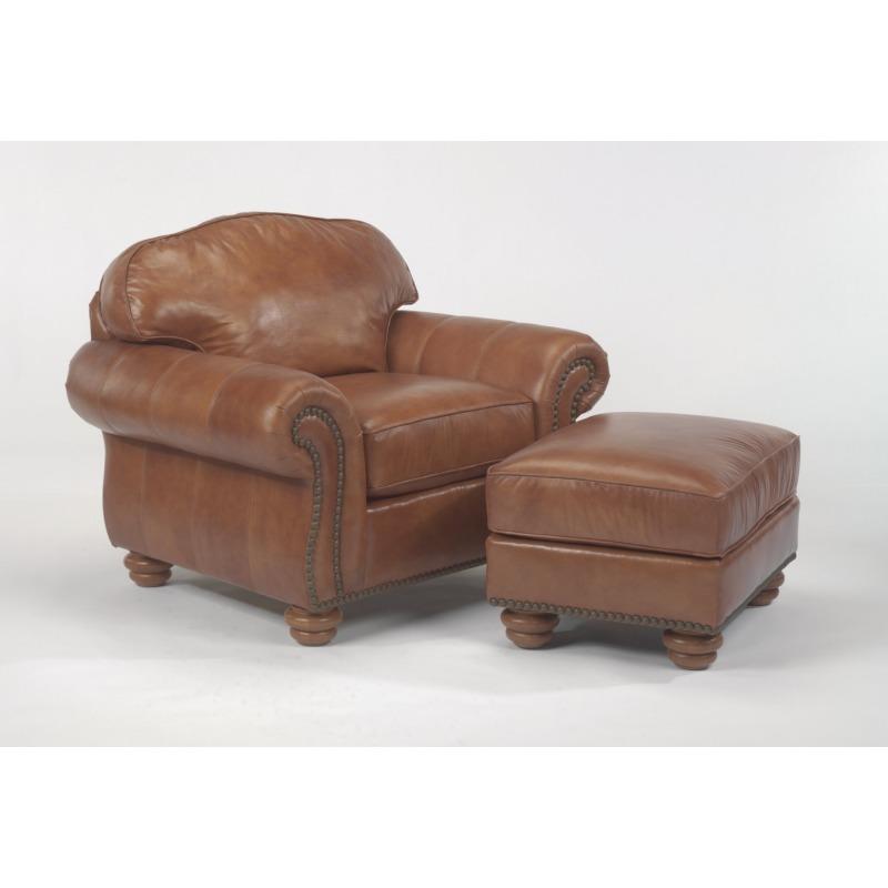 Wondrous Leather Ottoman Without Nailhead Trim By Flexsteel Furniture Unemploymentrelief Wooden Chair Designs For Living Room Unemploymentrelieforg
