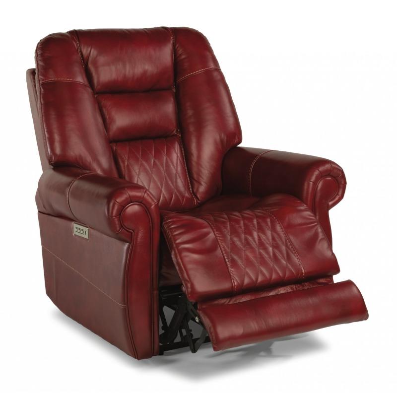 Pleasing Maverick Fabric Power Recliner Power Headrest By Flexsteel Uwap Interior Chair Design Uwaporg
