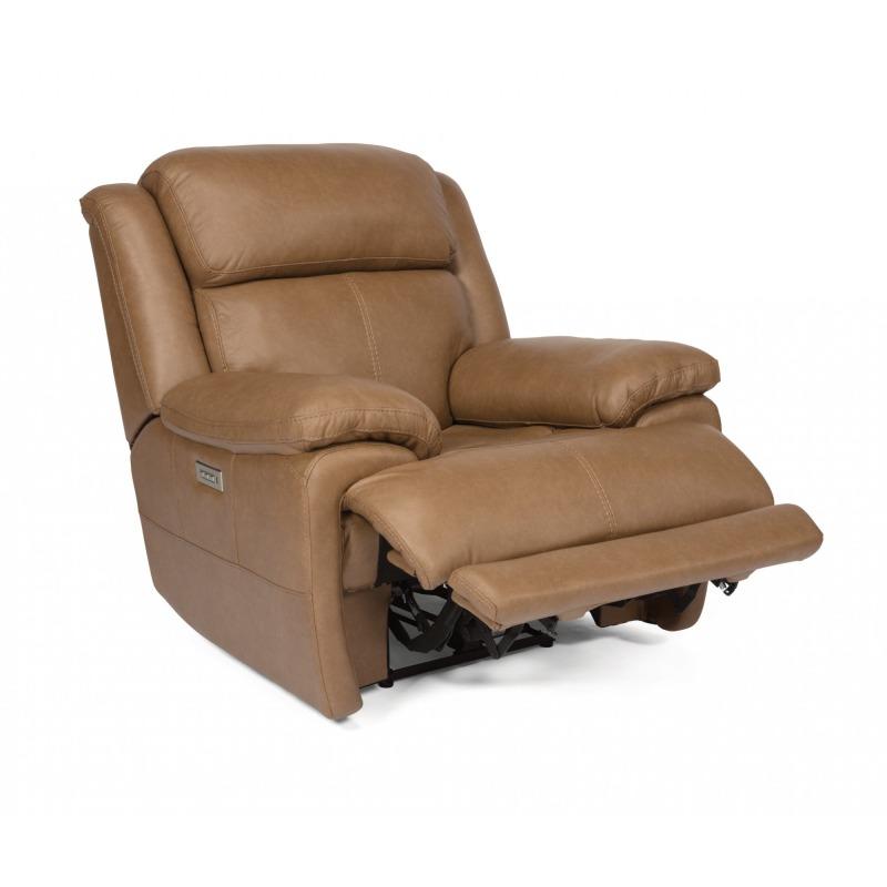 Terrific Elijah Leather Power Recliner W Power Headrests By Flexsteel Machost Co Dining Chair Design Ideas Machostcouk