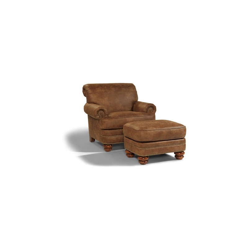 Bay Bridge NuvoLeather Chair & Ottoman
