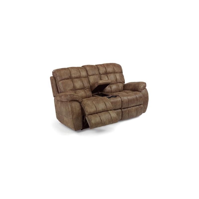 Miraculous Nashua Power Love Seat W Console By Flexsteel Furniture Machost Co Dining Chair Design Ideas Machostcouk