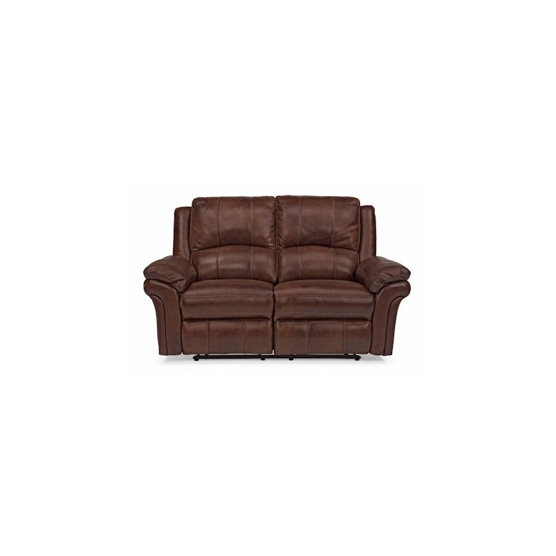 Astonishing Dandrige Leather Power Reclining Love Seat By Flexsteel Gmtry Best Dining Table And Chair Ideas Images Gmtryco