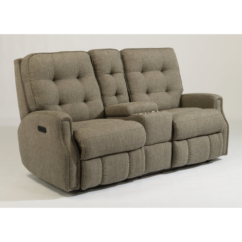 Awesome Devon Fabric Power Reclining Loveseat With Console Power Squirreltailoven Fun Painted Chair Ideas Images Squirreltailovenorg