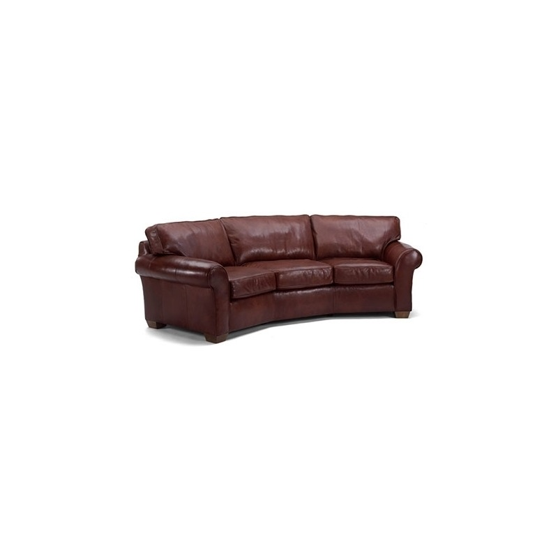 Vail Leather Conversation Sofa by Flexsteel Furniture - 3305 ...