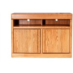 Forest Designs Bullnose Oak TV Cart:42W x 30H