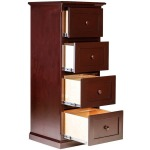 Forest Designs Traditional Alder Four Drawer File: 22W X 56H X 21D