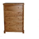 Forest Designs Shaker Five Drawer Chest: 34W x 48H x 18D