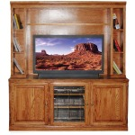 Forest Designs Traditional Oak TV Stand & Hutch