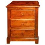 Forest Designs Shaker Three Drawer Nightstand in Auburn: 25W x 30H x 18D