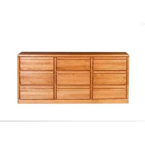 Forest Designs Bullnose Nine Drawer Dresser: 72W X 32H X 18D