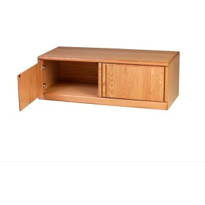 Forest Designs Bullnose TV Cart: 53W X 18D X 21D (No Side Shelves)