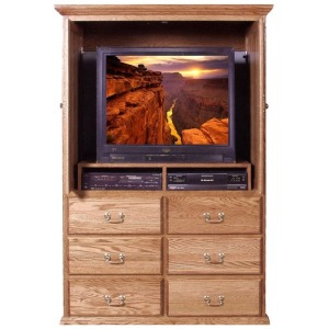 Forest Designs Traditional TV Armoire: 48W x 72H x 23D Shown Open