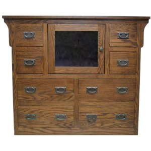 Forest Designs Arts & Crafts Entertainment Chest: 48W x 41H x 18D