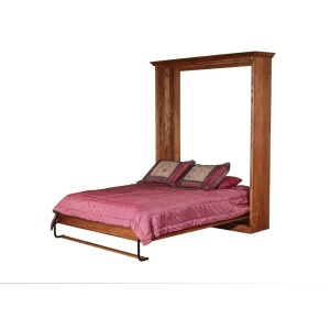 Forest Designs Mission Open Queen Murphy Bed: 73W X 92H X 15D/ Bed Extends 89 From Wall