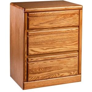 Forest Designs Bullnose Oak Three Drawer Nightstand: 25W x 30H x 18D