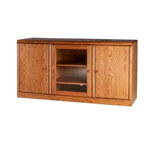 Forest Designs Bullnose Oak TV Cart: 60W x 30H x 18D