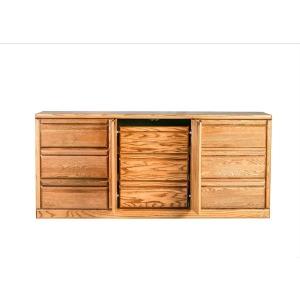 Forest Designs Bullnose Nine Drawer Dresser: 72W X 32H X 18D (Three Hidden Drawers)