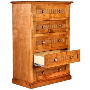 Forest Designs Cottage Five Drawer Dresser: 34W X 48H X 18D