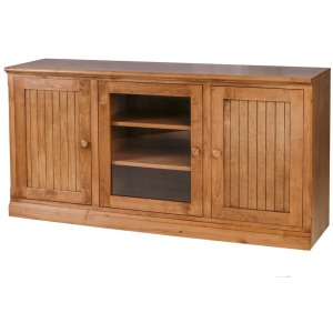 Forest Designs Arts & Crafts Oak TV Cart with Media Storage: 56W x 30H x 21D