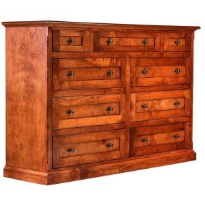 Forest Designs Mission Alder Nine Drawer Tall Dresser: 60W x 40H x 18D