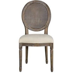 Round Mesh Back Maxwell Side Chair - Oatmeal Linen