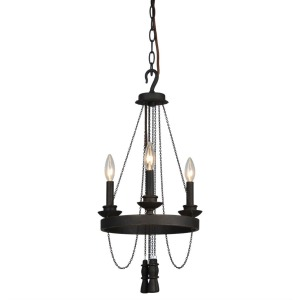 ATWOOD 3-LT CHANDELIER