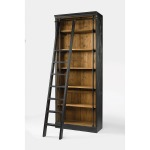 Ivy Bookcase And Ladder-Matte Black