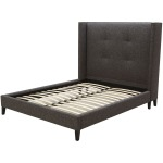 Madison Upholstered Queen Bed-Charcoal