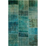 Patchwork Rug 5'x8'-Turquoise