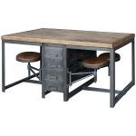 Rupert Work Table-Rustic Blk/Bp