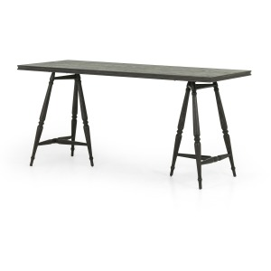 Hardie Desk - Distressed Black