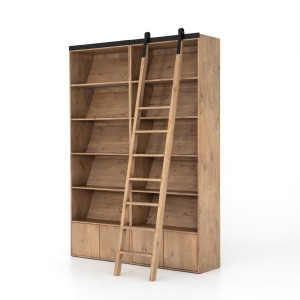 Bane Double Bookshelf w/ Ladder