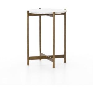 Adair Side Table - Raw Brass