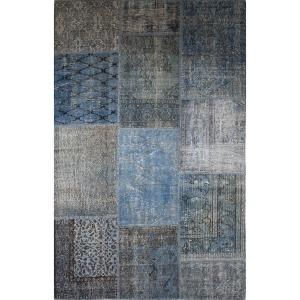 Patchwork Rug 9\'x12\'-Indigo Blue