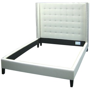 Jefferson Upholstered King Bed-Snow Crm