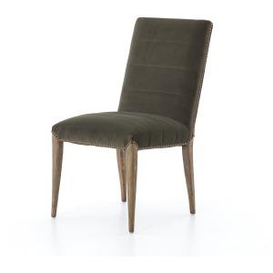 Nate Dining Chair - Modern Velvet Loden