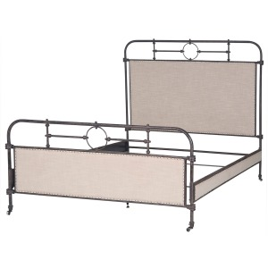 Berkley Metal Qn Bed-Palm Ecru/Aged Iron