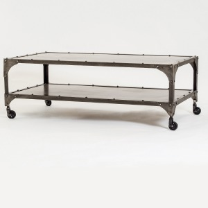 Element Coffee Table-Nickel/Ant Nickel