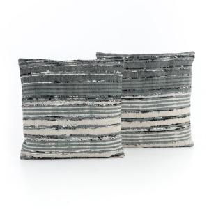 Silk Ribbon Pillow, Set of 2