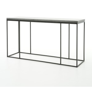 Harlow Console Table - Bluestone/Gunmetal