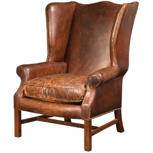 Hawthorne Large Wing Chair-Cigar