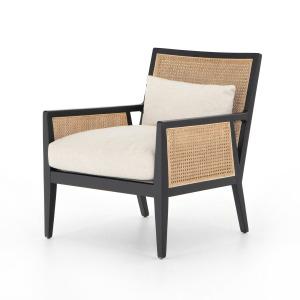 Antonia Cane Chair - Brushed Ebony