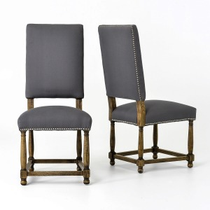 Connor Dining Chair-Grey Linen