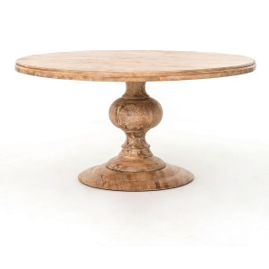 "Magnolia Round Dining Table 60""-Whitewas"
