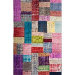 Patchwork Rug 5\'x8\'-Multicolor
