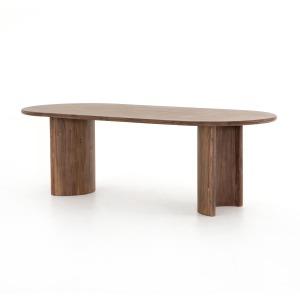 Paden Dining Table - Seasoned Brown Acacia