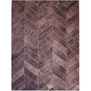 Patchwork Herringbone Rug 10\'x14\'-Grey