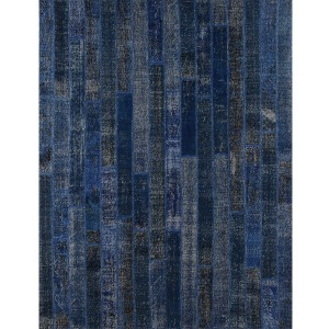 Patchwork Brick Rug 8\'x10\'-Dark Blue